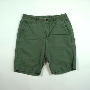"Gap 10"" Short Mens Size 28 Desert Cactus Chino"
